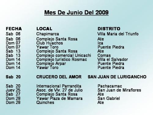 Mes De Junio Del 2009