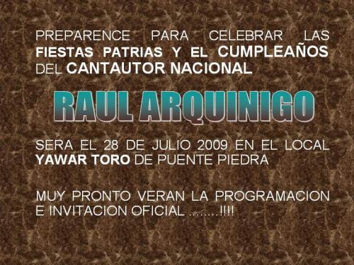 FELIZ CUMPLEAÑOS RAUL ARQUINIGO